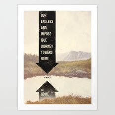 Endless Journey Home Art Print