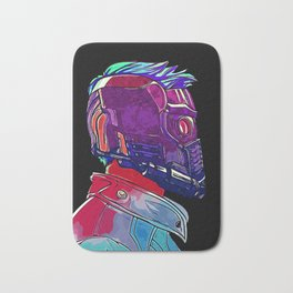 Star Lord Guardians of the Galaxy Avenger Infinity War Painting - Star-Lord Bath Mat