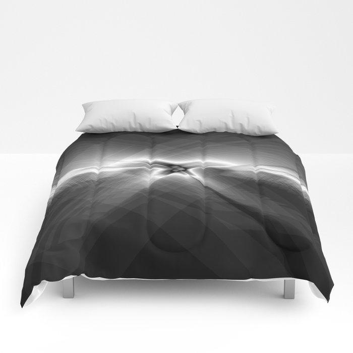 Erratic Flight in Charcoal Comforters