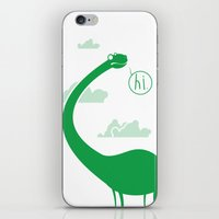 dinosaur iPhone & iPod Skins featuring Dinosaur by Cody Bond