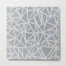 Ab Blocks Grey #2 Metal Print