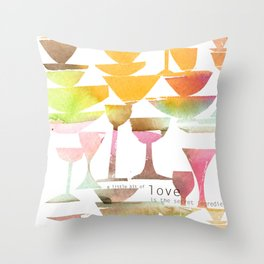 Love is the Secret Ingredient Throw Pillow
