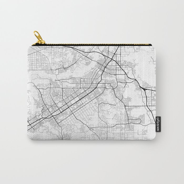 Minimal City Maps - Map Of Riverside, California, United States Carry-All Pouch