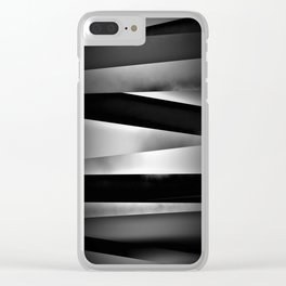 Assorted Colors Dark Minimalism Clear iPhone Case