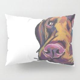 Fun Chocolate Lab Dog bright colorful Pop Art Labrador Pillow Sham