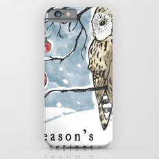 Lonely Owl Christmas Card Slim Case iPhone 6s