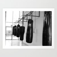 boxing Art Prints featuring Boxing by Ashley Lynette Williams