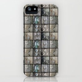 Hydro Pole Numbers iPhone Case