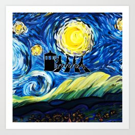 The Doctor With Starry Night Art Print
