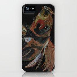 Koi fish on black iPhone Case