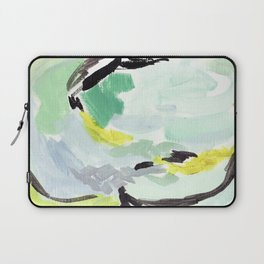 Twirl Green: Abstract Painting Laptop Sleeve