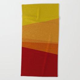 Stripe X Orange Peel Beach Towel