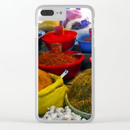 Red Chile and Spice Clear iPhone Case