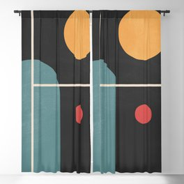 Geometric Shapes 105 Blackout Curtain