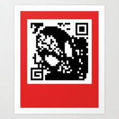 QR- Spiderman Art Print