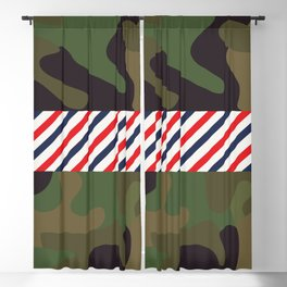 Barber Camo Pattern Blackout Curtain