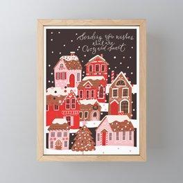 Gingerbread Village Framed Mini Art Print