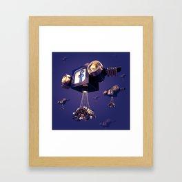 Facebook Account Delivery Framed Art Print