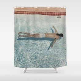 David Hockney Swimming Pool Shower Curtain