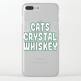 """""""Cats Crystal Whiskey"""" tee design. Perfect for gifts to your family and friends! Grab yours now!  Clear iPhone Case"""