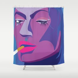 no-regrets Shower Curtain