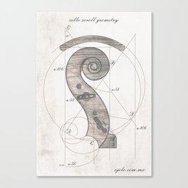 musical geometr.eye Canvas Print