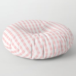 Large Lush Blush Pink and White Gingham Check Floor Pillow