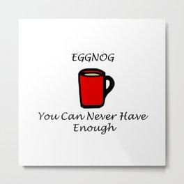 Eggnog Metal Print