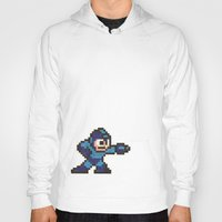 mega man Hoodies featuring Mega Man by Alison Hinch