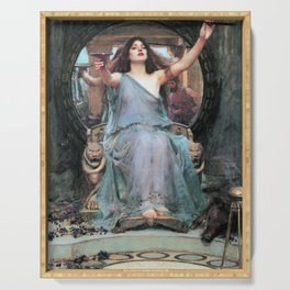 John William Waterhouse - Circe Offering The Cup To Odysseus - Digital Remastered Edition Serving Tray