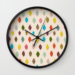 PIPS palest peach Wall Clock