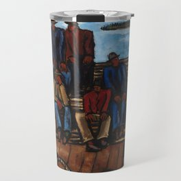 Lobster Fishermen by Marsden Hartley Travel Mug