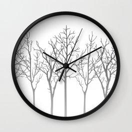 Winter Aspen Forest Wall Clock