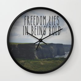 Be Bold. Be Brave. Wall Clock