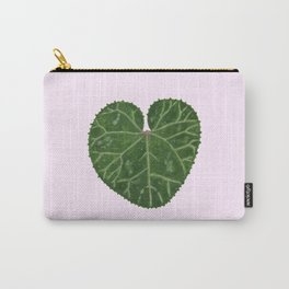 Cyclamen leaf - pink Carry-All Pouch