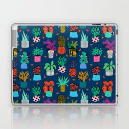Check It - house plants indoor monstera neon bright modern pattern retro throwback memphis style Laptop & iPad Skin