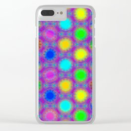 Structured-color-dots-pattern ... Clear iPhone Case
