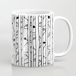 Into the Woods black on white Coffee Mug