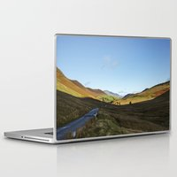 cassia beck Laptop & iPad Skins featuring Views from Keskadale and Keskdale Beck back down the Pass. Lake District, UK. by liamgrantfoto