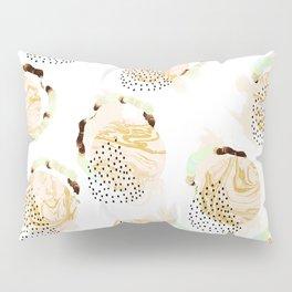 Abstract marble circles Pillow Sham