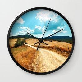 I LOVE TUSCANY Wall Clock