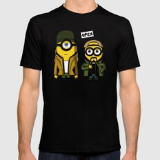 Silent minion Black Mens Fitted Tee 2X-LARGE