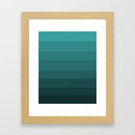 Winter Dark Blue Turquoise Framed Art Print
