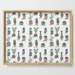 Cactus and Succulent Pattern Serving Tray