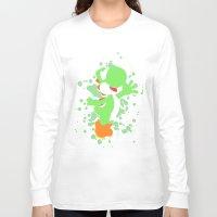 yoshi Long Sleeve T-shirts featuring Yoshi by Emerald Bird
