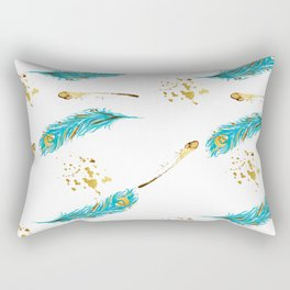 Peacocks a sparkle Rectangular Pillow