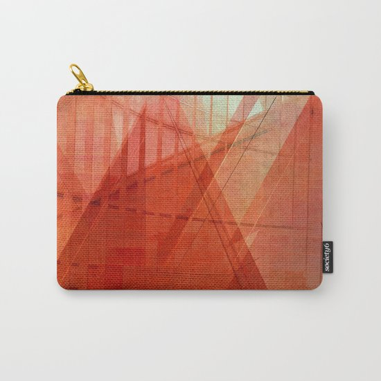 Orange abstract  Carry-All Pouch