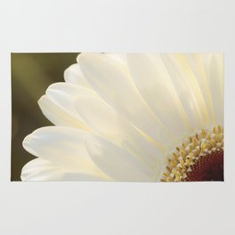 White Daisy in Love Rug
