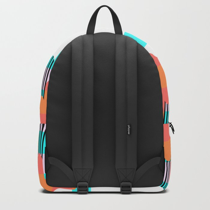 Melting colors and stripes Backpack