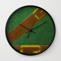 video game Wall Clocks featuring Video Game Poster: Adventurer by Justin D. Russo